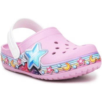 Scarpe Bambina Zoccoli Crocs FL Star Band Clog 207075-6GD purple