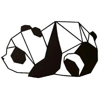Casa Dipinti, tele Homemania Decorazione da Parete Panda Animali, Nero, L52xP0,15xA31 cm Nero