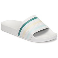 Scarpe Donna ciabatte adidas Originals ADILETTE Bianco / Verde / Rosa