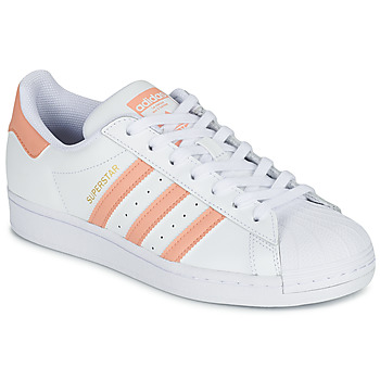 Scarpe Donna Sneakers basse adidas Originals SUPERSTAR Bianco / Rosa