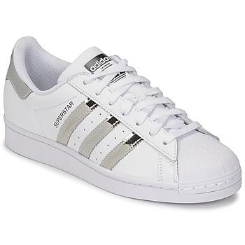 Scarpe Donna Sneakers basse adidas Originals SUPERSTAR W Bianco / Argento