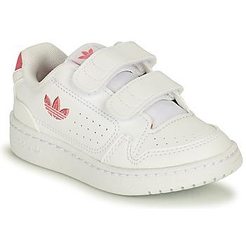Scarpe Bambina Sneakers basse adidas Originals NY 90 CF I Bianco / Rosa