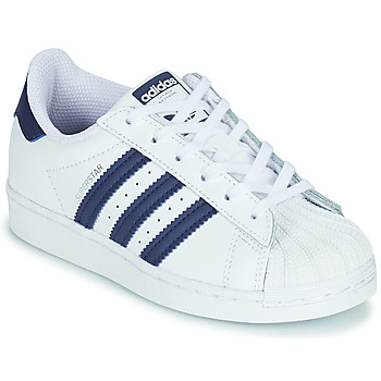 Scarpe Unisex bambino Sneakers basse adidas Originals SUPERSTAR C Bianco / Blu