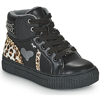 Scarpe Bambina Sneakers alte Primigi GIRL ALPHA Nero / Leopard