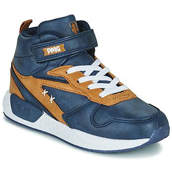 Scarpe Bambino Sneakers alte Primigi B&G MEGA Blu / Marrone