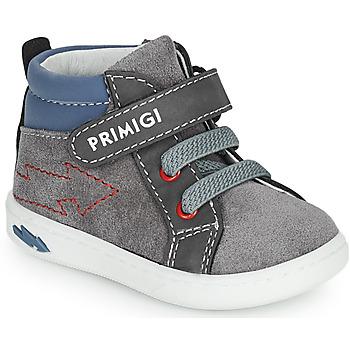 Scarpe Bambino Sneakers alte Primigi BABY LIKE Grigio / Blu