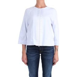 Abbigliamento Donna Felpe Anna Seravalli S1125 Con Zip Donna Bianco Bianco