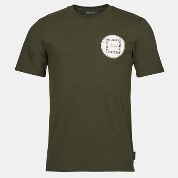 Abbigliamento Uomo T-shirt maniche corte Scotch & Soda GRAPHIC LOGO T-SHIRT Khaki