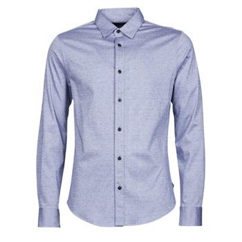 Abbigliamento Uomo Camicie maniche lunghe Scotch & Soda CLASSIC SLIM FIT KNITTED Blu