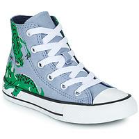 Scarpe Unisex bambino Sneakers alte Converse CHUCK TAYLOR ALL STAR DINO DAZE HI Blu / Verde