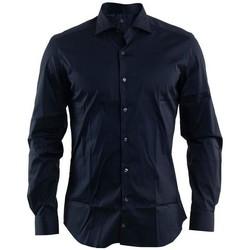 Abbigliamento Uomo Camicie maniche lunghe Fay CAMICIA COLLO FRANCESE Blue