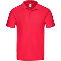 Abbigliamento Uomo Polo maniche corte Fruit Of The Loom  Rosso
