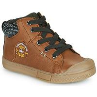 Scarpe Bambino Sneakers alte Mod'8 HERMIAN Cognac