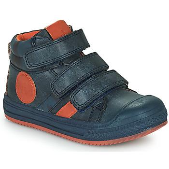 Scarpe Bambino Sneakers alte Mod'8 TALYE Marine / Arancio