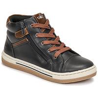 Scarpe Bambino Sneakers alte Mod'8 KYNATA Marine / Marrone