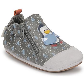 Scarpe Bambino Scarpette neonato Robeez BLUE PINGUINS Grigio