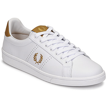 Scarpe Uomo Sneakers basse Fred Perry B721 LEATHER Bianco / Giallo