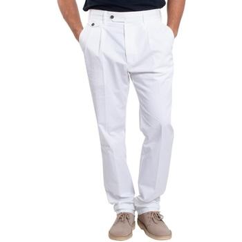 Abbigliamento Uomo Chino Lardini EL56082-100 Bianco
