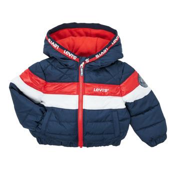 Abbigliamento Bambino Piumini Levi's COLORBLOCK JACKET Marine / Bianco / Rosso