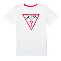 Abbigliamento Bambino T-shirt maniche corte Guess CELAVI Bianco