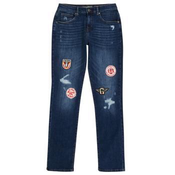 Abbigliamento Bambino Jeans slim Guess CLASMI Blu