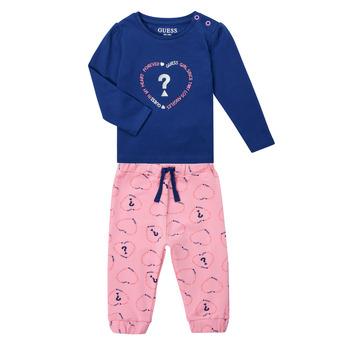 Abbigliamento Bambina Completo Guess ANISSA Rosa / Blu
