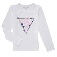 Abbigliamento Bambina T-shirts a maniche lunghe Guess MONICA Bianco