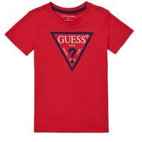 Abbigliamento Bambino T-shirt maniche corte Guess THERONN Rosso