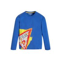Abbigliamento Bambino T-shirts a maniche lunghe Guess LISTIN Blu