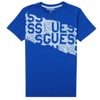 Abbigliamento Bambino T-shirt maniche corte Guess LISTIN Blu