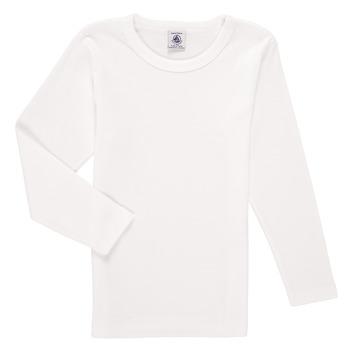 Abbigliamento Bambino T-shirts a maniche lunghe Petit Bateau KELOMA Bianco