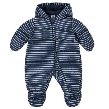 Abbigliamento Bambino Piumini Petit Bateau TECHA Blu / Bianco