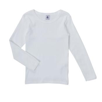Abbigliamento Bambina T-shirts a maniche lunghe Petit Bateau FATRE Bianco