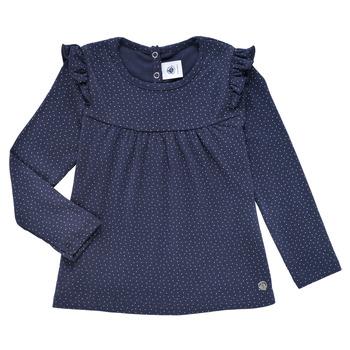 Abbigliamento Bambina T-shirts a maniche lunghe Petit Bateau IWAKA Marine