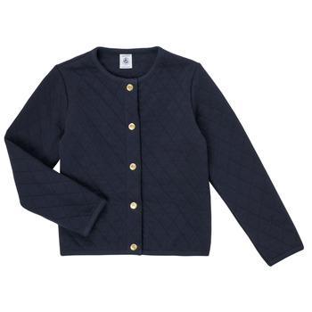 Abbigliamento Bambina Gilet / Cardigan Petit Bateau COLYNNE Blu