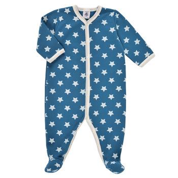 Abbigliamento Bambino Pigiami / camicie da notte Petit Bateau SOLARIE Blu / Bianco