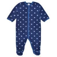 Abbigliamento Bambino Pigiami / camicie da notte Petit Bateau BENIR Blu / Bianco
