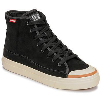 Scarpe Uomo Sneakers alte Levi's SQUARE HIGH Nero