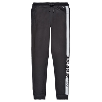 Abbigliamento Bambino Pantaloni da tuta Calvin Klein Jeans RESPIRA Nero