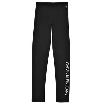 Abbigliamento Bambina Leggings Calvin Klein Jeans MERCA Nero