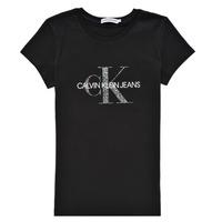 Abbigliamento Bambina T-shirt maniche corte Calvin Klein Jeans VOYAT Nero