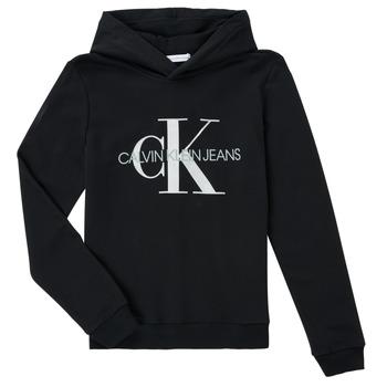 Abbigliamento Unisex bambino Felpe Calvin Klein Jeans TRINIDA Nero
