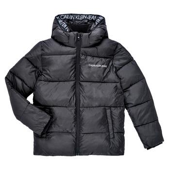 Abbigliamento Bambino Piumini Calvin Klein Jeans LITHERA Nero