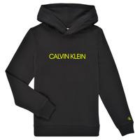 Abbigliamento Unisex bambino Felpe Calvin Klein Jeans ZOPLINA Nero