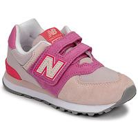 Scarpe Bambina Sneakers basse New Balance 574 Rosa / Viola