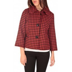 Abbigliamento Donna Giubbotti Vero Moda ODA Short Jacket Noir/Rouge Nero