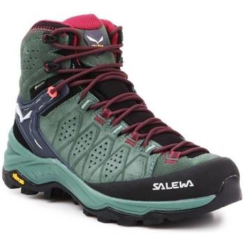 Scarpe Donna Trekking Salewa WS Alp Trainer 2 Mid Gtx Nero, Verde