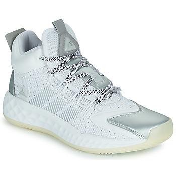 Scarpe Pallacanestro adidas Performance PRO BOOST MID Bianco / Argento