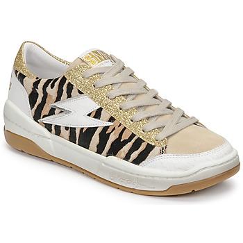 Scarpe Donna Sneakers basse Semerdjian THEO Beige / Oro / Marrone