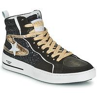 Scarpe Donna Sneakers alte Semerdjian MARAL Nero / Oro